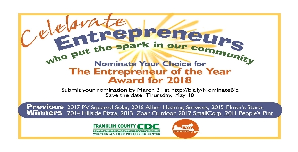 Nominate 2018 Entrepreneur of the Year